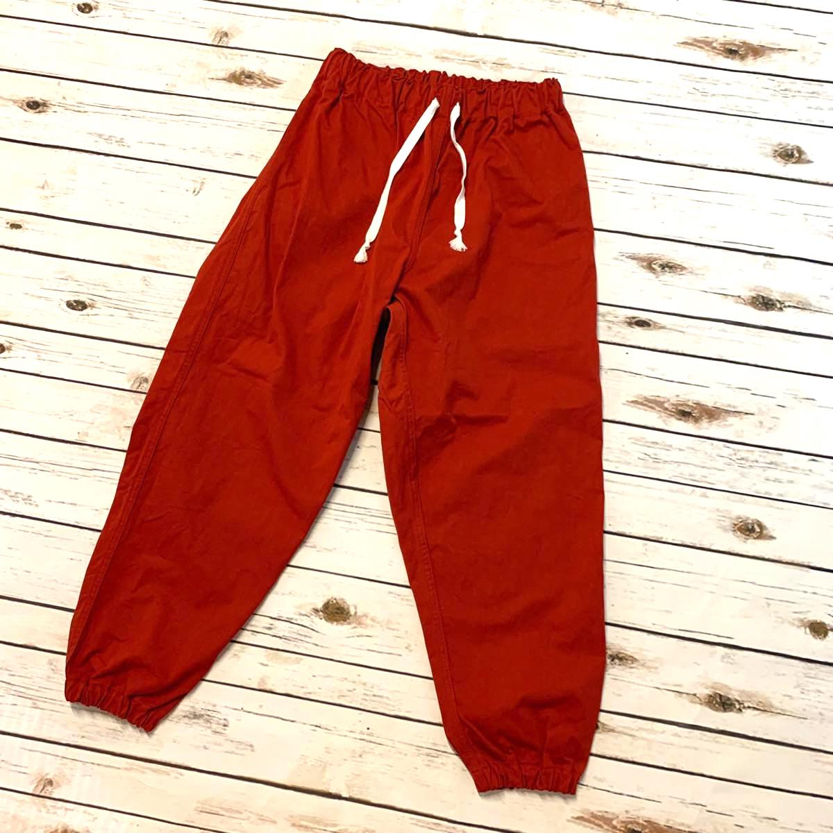 TUKI GUM PANTS – Solid Twill / Red 2019AW