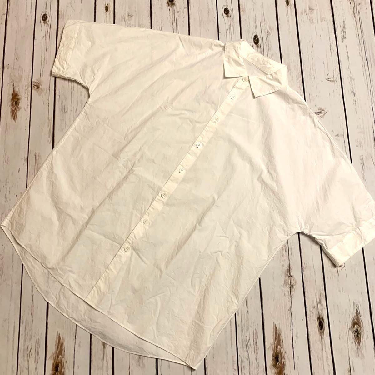 CASEY CASEY ケーシーケーシー WAGA SHIRT WHITE