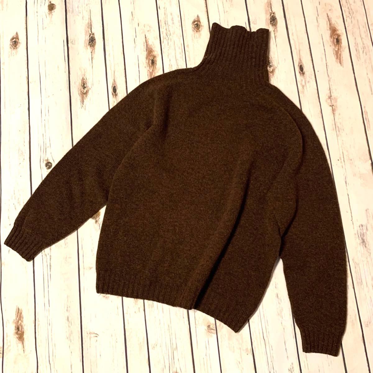 INVERALLAN(インバーアラン) シェットランドセーター タートルネック