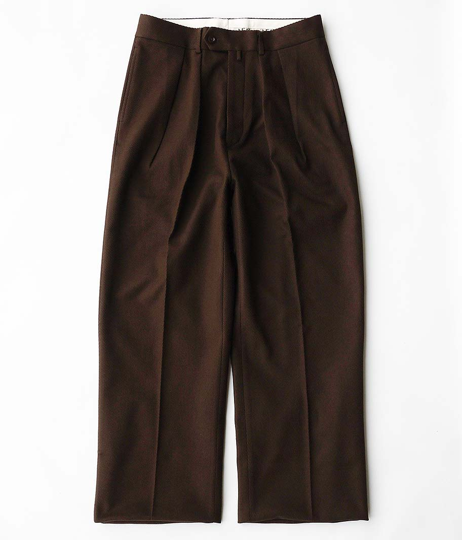 NEAT ニート Cotton Kersey WIDE BROWN 2019AW