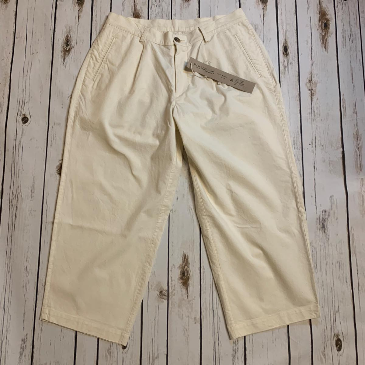 POLYPLOID(ポリプロイド) Wide Pants  Off White