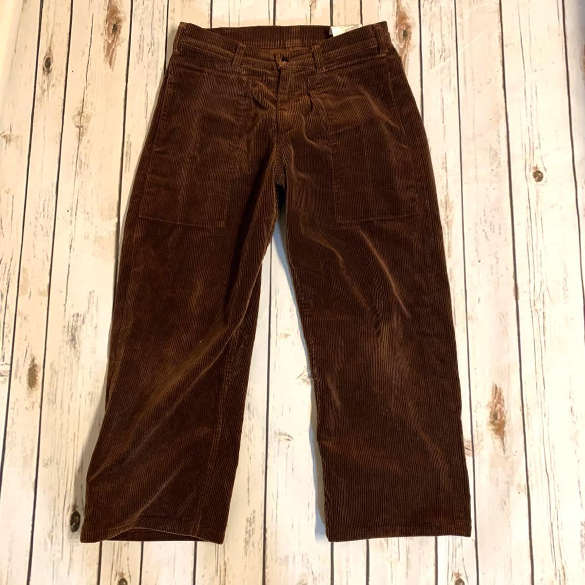 TUKI (ツキ) 0086 PACHED WORK PANTS (8 WALE CORDUROY) BROWN UNISEX