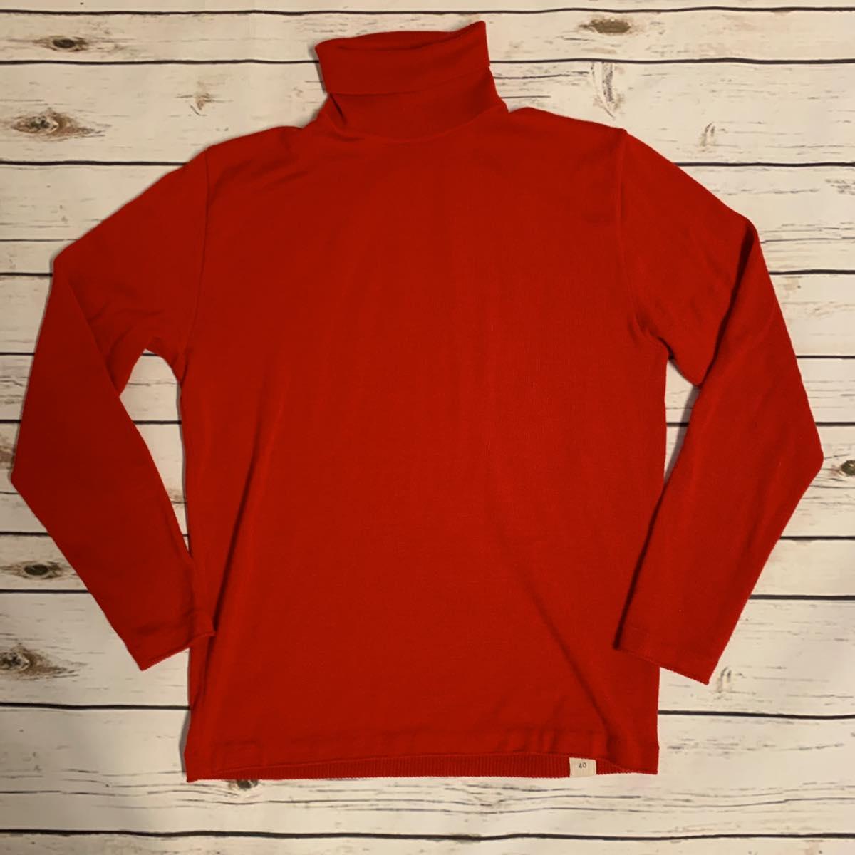 BONCOURA (ボンクラ)タートルネックセーター レッド turtle neck sweater red 2019FW