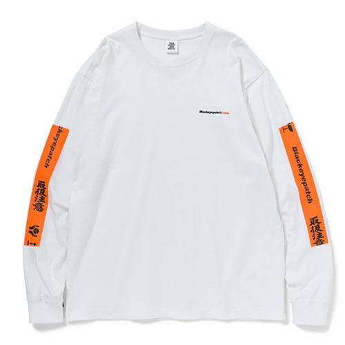 BlackEyePatch(ブラックアイパッチ) HANDLE WITH CARE L/S TEE WHITE