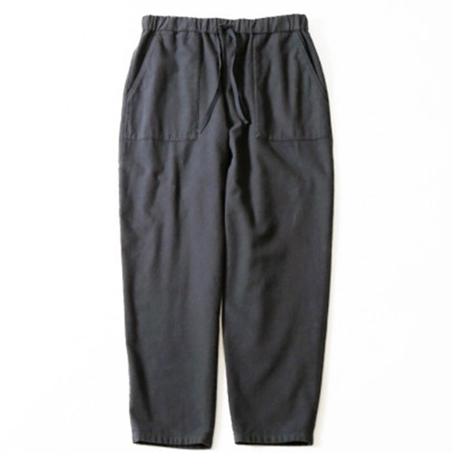 evam eva(エヴァムエヴァ) flannel cotton easy pants -men's