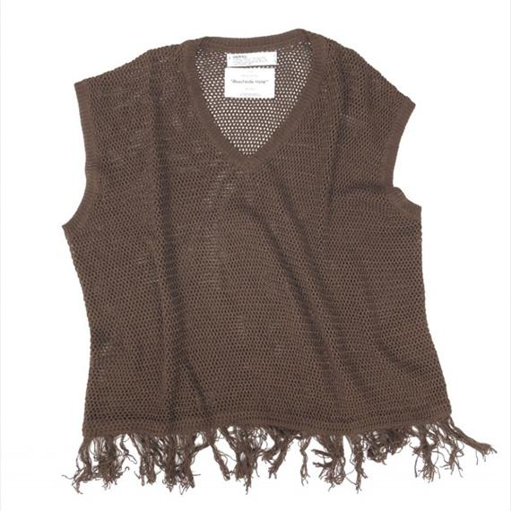 DAIRIKU (ダイリク) Pullover Fringe Net Knit Vest