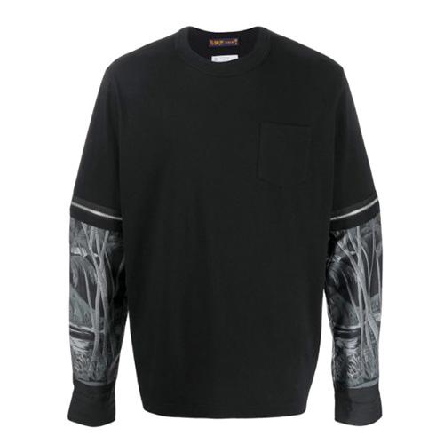 sacai (サカイ)  プリント L/S Tシャツ