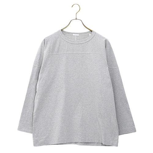COMOLI(コモリ)フットボールTシャツ Heather Gray 2019AW