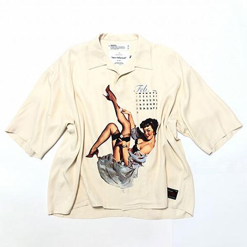 DAIRIKU(ダイリク) Pinup Girl Half Sleeve Shirt