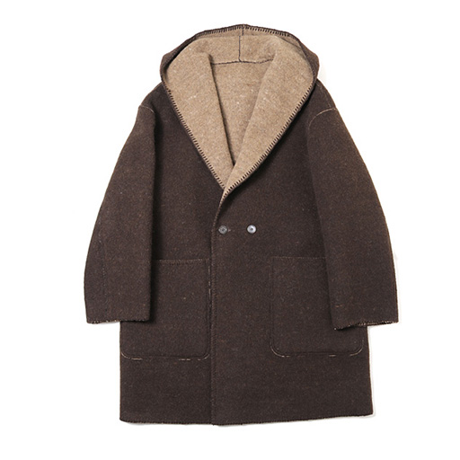 MARKAWARE (マーカウェア)  TARANUI WOOL BLANKET CLOTH HOODED COAT