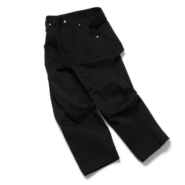tuki(ツキ) 0082 WORK PANTS FINE DRILL| 葛城 超長綿 ワークパンツ NAVY/ネイビー
