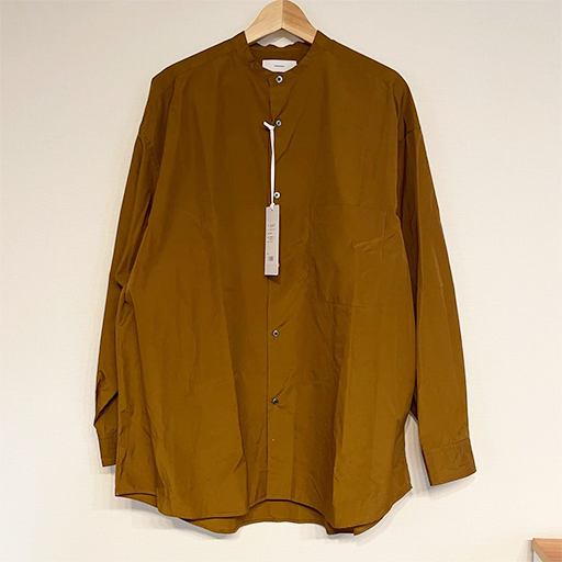 Graphpaper (グラフペーパー) 	2021SS Broad Oversized L/S Band Collar Shirt #BROWN